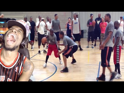 LMAO LOWRY IS BABY SOFT!! KEVIN HART vs KYLE LOWRY 1 ON 1 REACTION!!