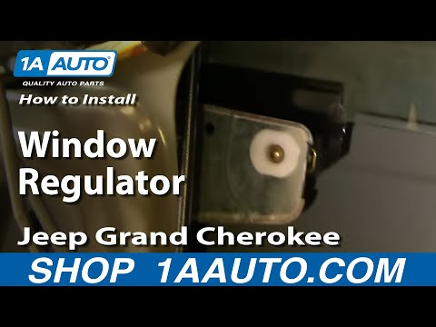 Buick T Type Parts - How To Install Replace Window Regulator Jeep Grand Cherokee 99-04 - 1AAuto.com