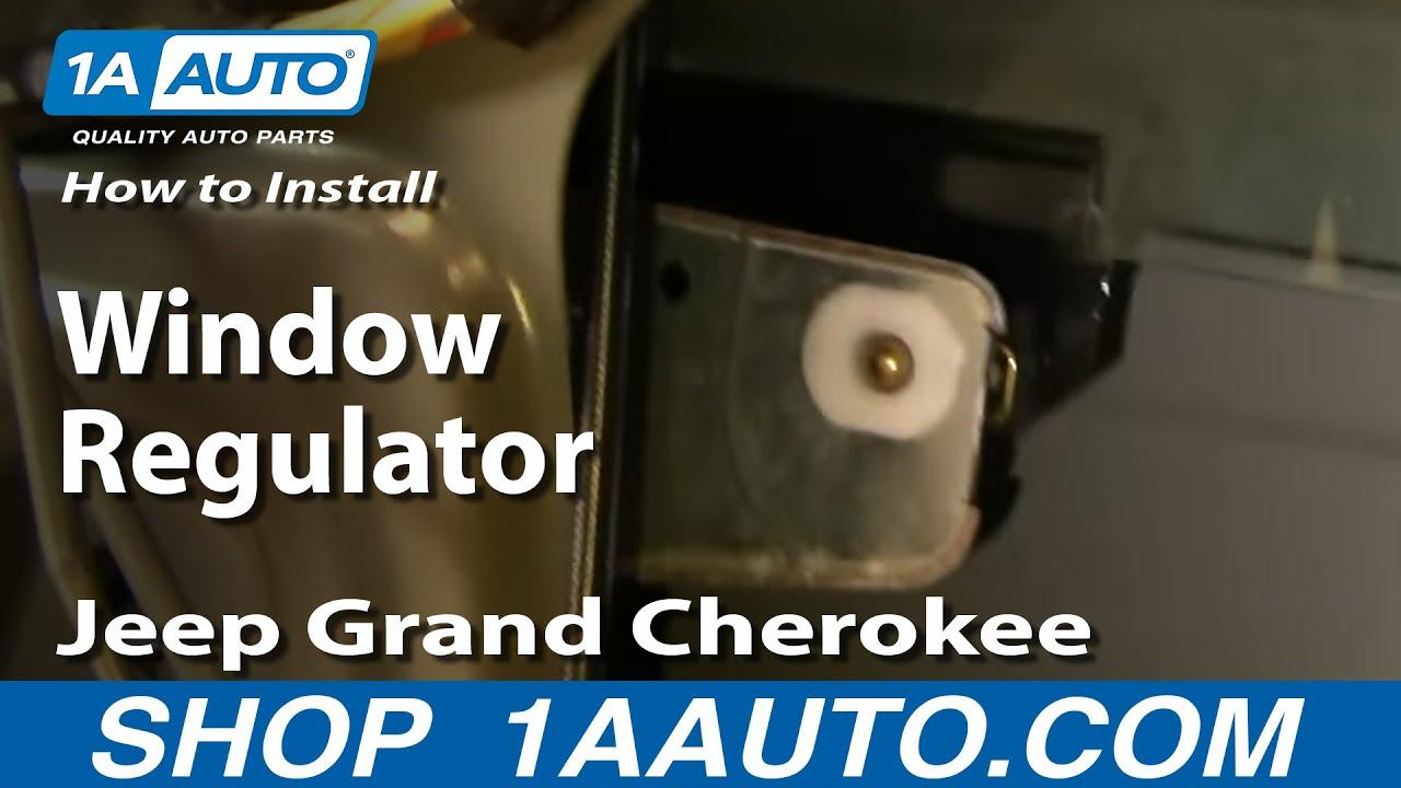 small resolution of how to install replace window regulator jeep grand cherokee 99 04 1aauto com