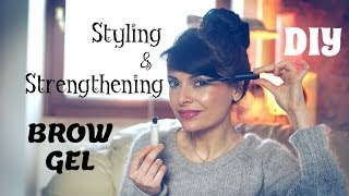 DIY Eyebrow Styling & Strengthening Gel: beauty tip on how to grow & tame your eyebrows Thumbnail