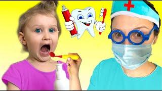 Going To The Dentist | Eva Pretend Play Sing-Along to Nursery Rhymes Kids Songs | Super Eva
