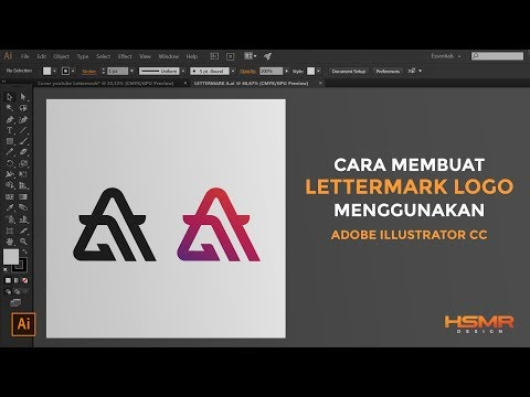 [Tutorial] Cara Membuat Logo / Lettermark | Adobe Illustrator CC.