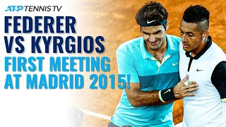Roger Federer vs Nick Kyrgios: Extended Highlights From First Meeting at Madrid 2015!