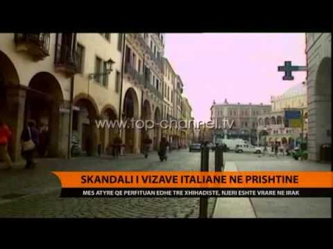Skandali i vizave italiane në Prishtinë - Top Channel Albania - News - Lajme