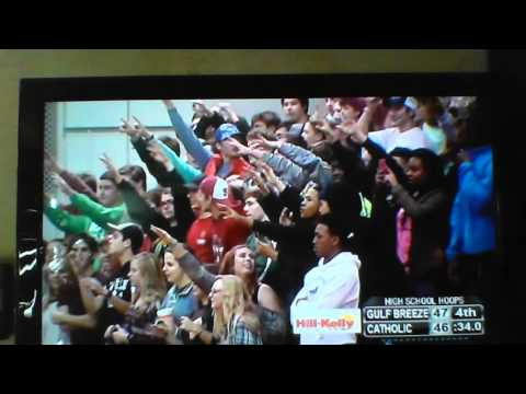 Gulf Breeze vs Pensacola Catholic High School basketball game 01/12/16