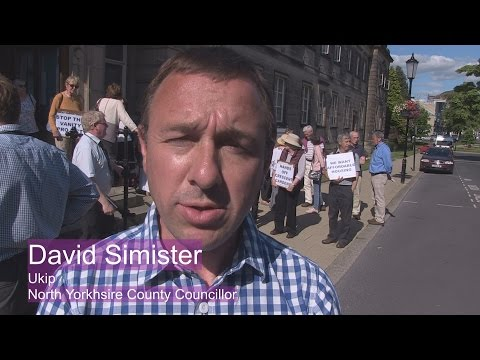 Protest against Harrogate Borough Council Office build - David Simister Ukip