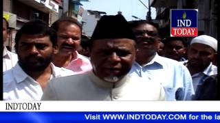 MIM Charminar MLA Ahmed Pasha Quadri inspects road widening works in old Hyderabad