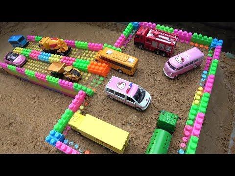 Garage Construction Cars Toys for Children | Dump Truck, Bulldozer, Sand Trucks for Kids & Toddlers