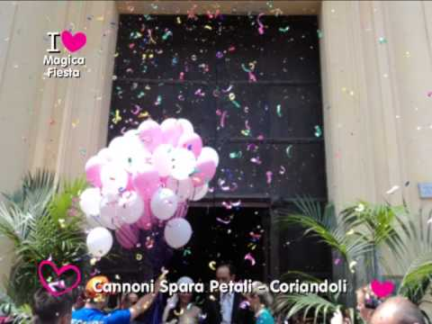 Addobbi con palloncini per matrimoni e sposi a napoli chiesa casa ristorante magica fiesta - Addobbi matrimonio casa ...