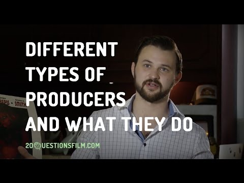 What are the different types of producers and their roles in the film industry?