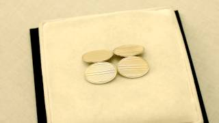 18ct Yellow Gold Cufflinks - Antique George V - AC Silver W7126
