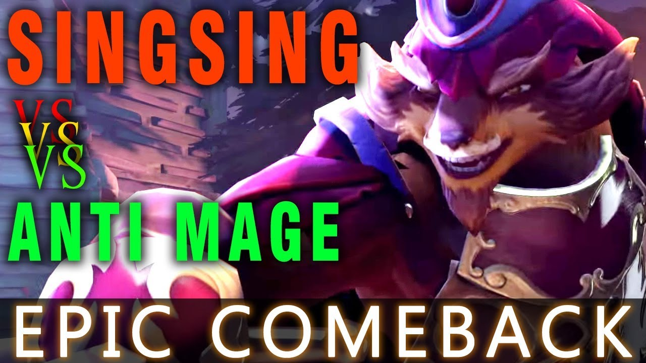 Dota 2 7.07 - SINGSING Pangolier vs Anti Mage - Epic Comeback for New Hero - Dueling Fates