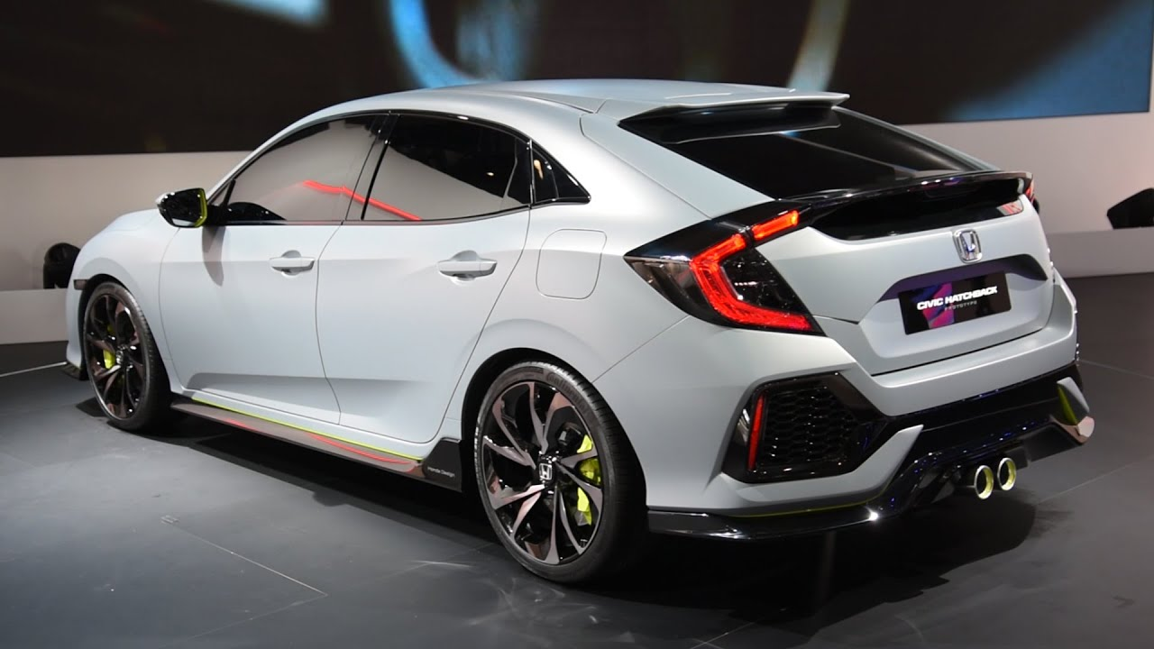 2017 Honda Civic Hatchback Prototype First Look - 2016 ...