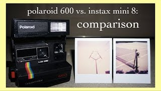 vintage polaroid 600 vs. fujifilm instax mini 8 - [camera comparison]
