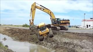 Экскаватор спасает бульдозер - аренда строительной техники на Unirenter.ru(, 2016-03-25T06:41:53.000Z)