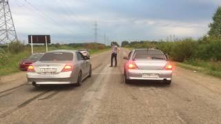 Nissan Cedric vs MMC Lancer Evolution 8
