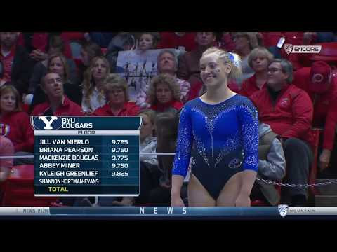 Shannon Hortman-Evans (BYU) - Floor Exercise (9.800) - BYU at Utah 2018