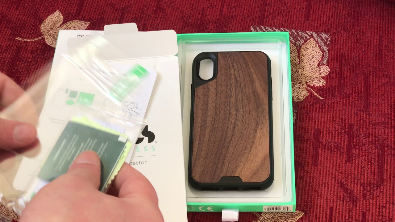 the latest ba494 b1215 Mous case for Iphone X walnut back