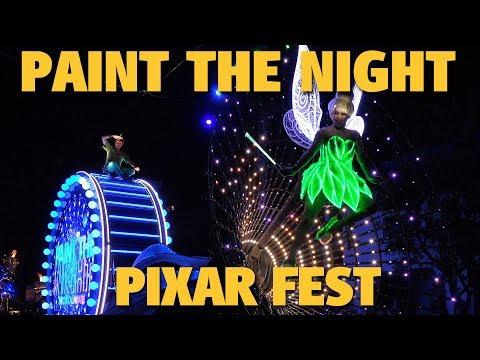 4K Paint the Night Parade | Pixar Fest | Disney California Adventure