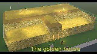 Golden house Speedbuild (200,000$) | Bloxburg Roblox