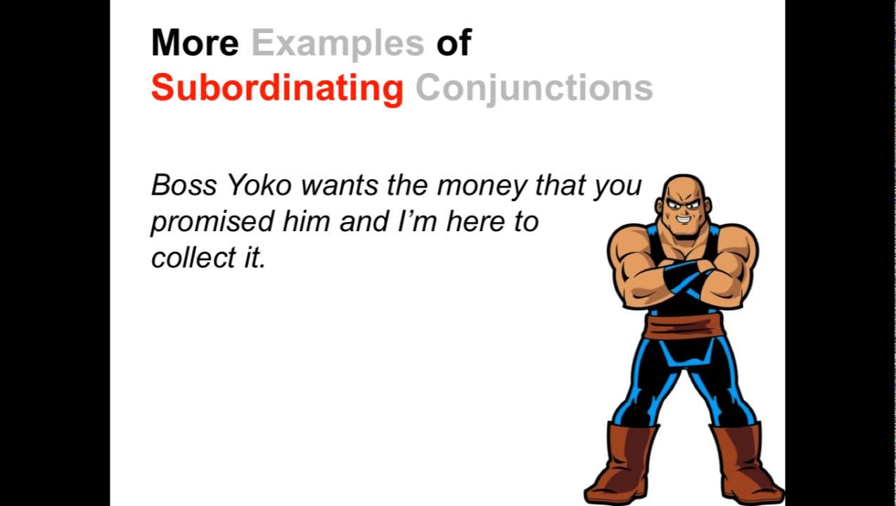 Subordinating Conjunctions | Parts of Speech App - YouTube