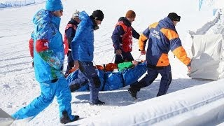 2014 Burton USOQ Snowboard Slopestyle Crash Landings