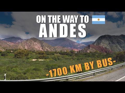On the way to ANDES - 1700 km by bus   Travel Series [S1-E3] - South America 2017