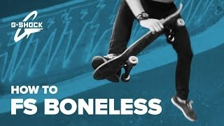Cкейт трюки для начинающих. Как сделать фс боунлес на скейтборде – FS Boneless на скейте