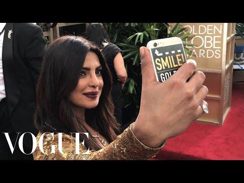 Emily Ratajkowski and Priyanka Chopra Go Inside the Golden Globes for the First Time Ever