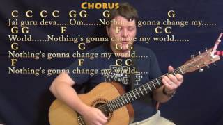 Across The Universe The Beatles Strum Guitar Cover Lesson In C With Chords Lyrics