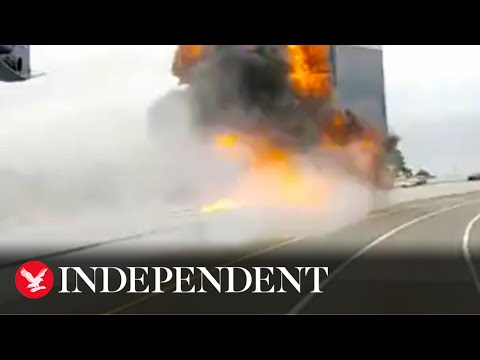 Fuel-tanker-crashes-and-explodes-on-Michigan-highway