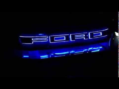 Front Grill Ford Ranger 16 Lights Color 4 Step Youtube