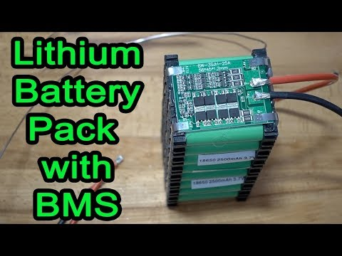 How to build an 18650 Lithium Battery Pack with BMS.