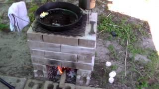 DIY Brick Rocket Stove