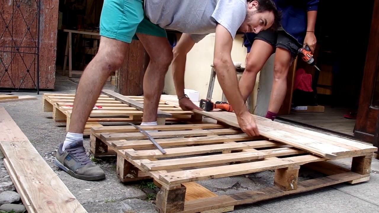 Fabriquer Un Lit En Bois fabrication d'une tête de lit en bois de palette