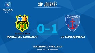 Marseille Consolat vs Concarneau full match