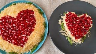 """Салат """"Гламурное Сердечко"""" на 14 февраля. #день_влюблённых #день_святого_Валентина"""