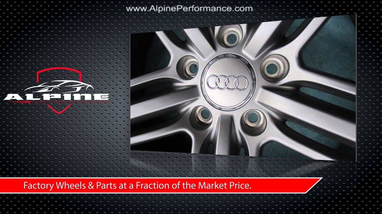 used wheels parts line factory sale watch s youtube oem vw for audi touareg