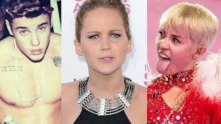 9 Overexposed Celebrities of 2014 - Justin Bieber, Miley Cyrus, Jennifer Lawrence