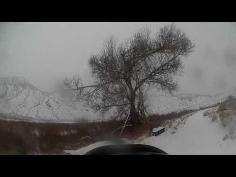 Snowy walk around Dotsero ponds