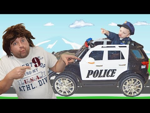 Officer Smalls Gets  New Police Car and It Goes Missing Funny Kids Video