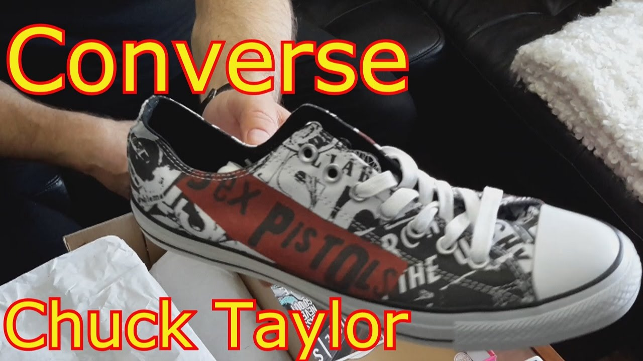 2a492d4e0979 Converse Sex Pistols - unboxing!! - YouTube