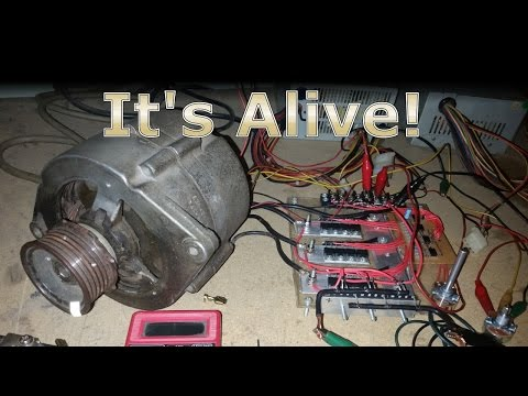 Running a car alternator as a BLDC electric motor with the new controller