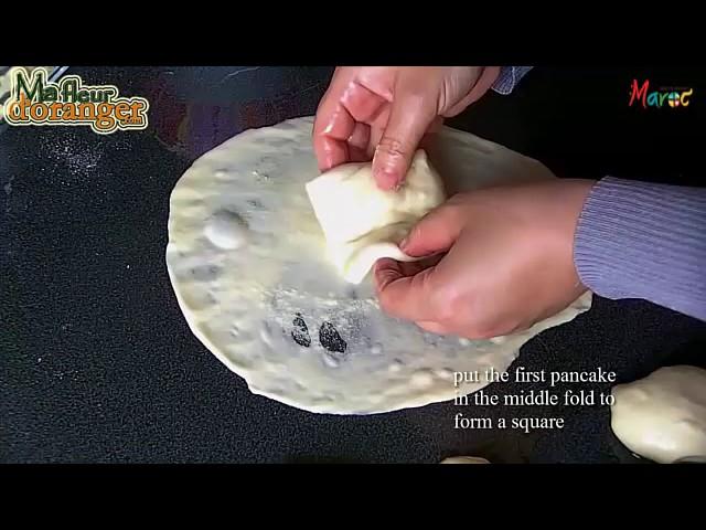 Recette de msemen   Crêpes feuilletées      Moroccan pancakes