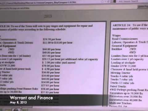 Warrant and Finance - 05-08-2013