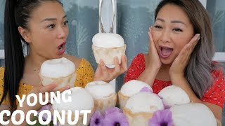 YOUNG COCONUT RACE CHALLENGE *Part 2 Mukbang | N.E Let's Eat