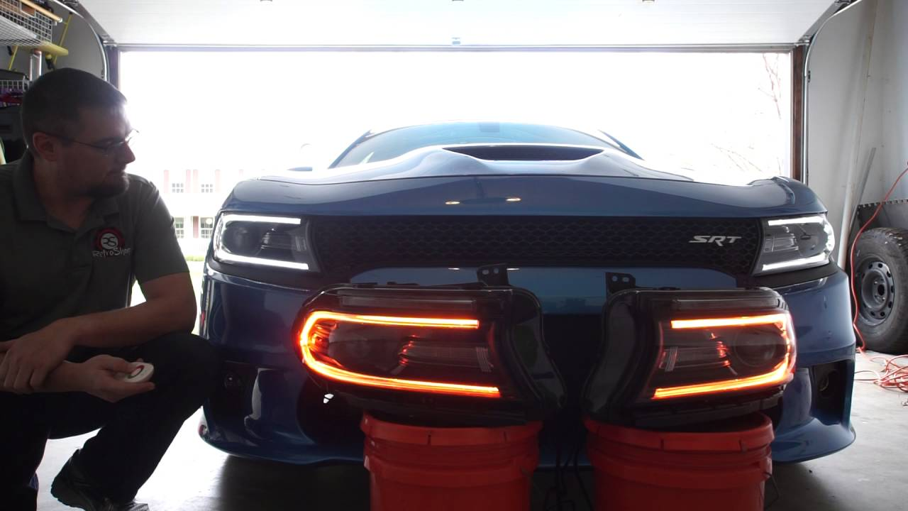 Custom Charger Headlights Comparison To Stock Drl Vs