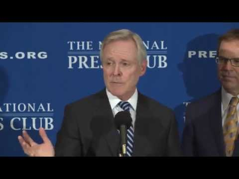 U.S. Secretary of the Navy Ray Mabus speaks at the National Press Club