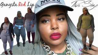 Gangsta Red Lip GRWM | 5 Plus Size Outfits | Chill