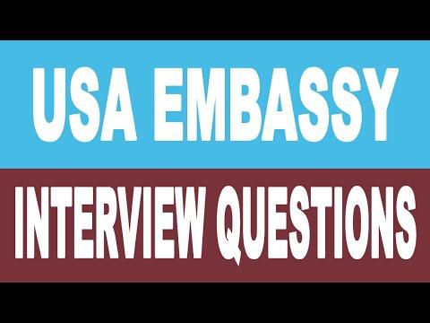 USA B1/B2 Tourist Visa Interview Questions